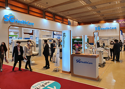 SG HealthCare showcased their product line-up in the KIMES 2021 Exhibition